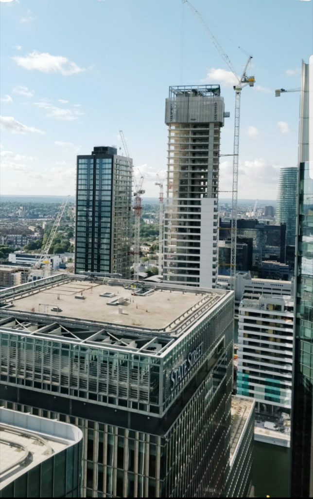 City scene of canary wharf Construction waste services RTS