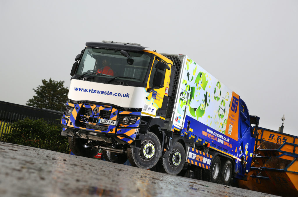 RTS Waste Lorry and RTS Branded Skips For Hire